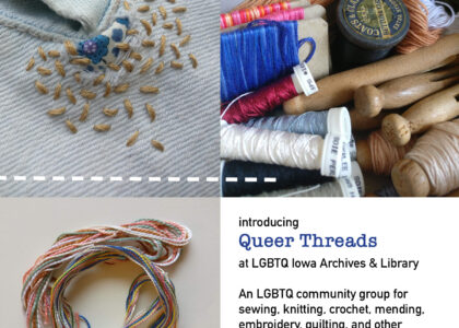 Thumbnail for the post titled: Queer Threads: A New Weekly Textile Craft Circle