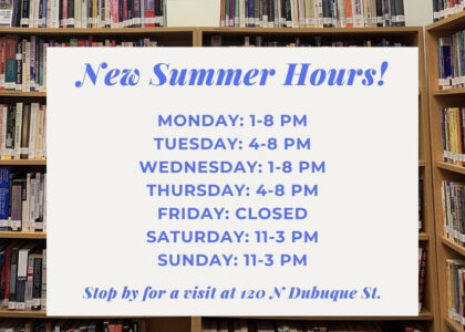Thumbnail for the post titled: New Summer Hours!